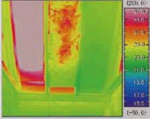 三種類の断熱材の温度モニター